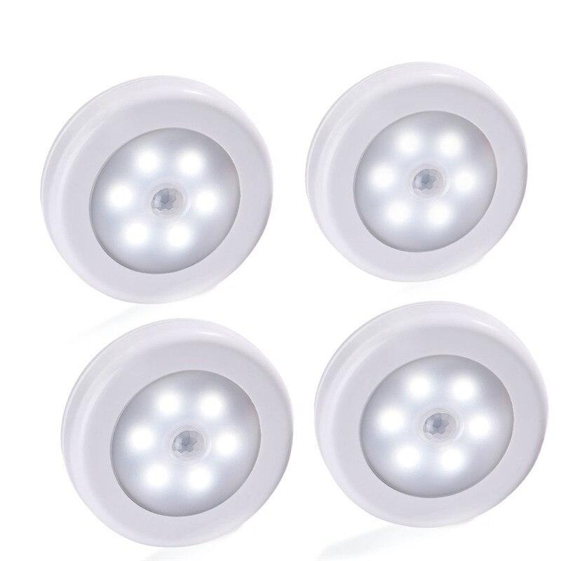 1 Stücke Körper Motion Sensor 6led Wand Lampe Nacht Licht Induktion Lampe Korridor Schrank Führte Suche Lampe Hause Elektronische Zubehör