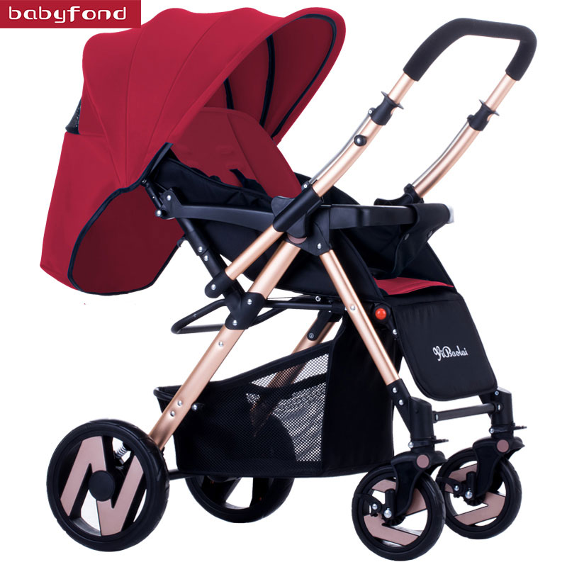 Baby stroller with ultra-light carriage folding umbrella baby carts baby can sit and lying stroller gubi baby stroller can sit and lying umbrella carts light folding stroller ond hand fold