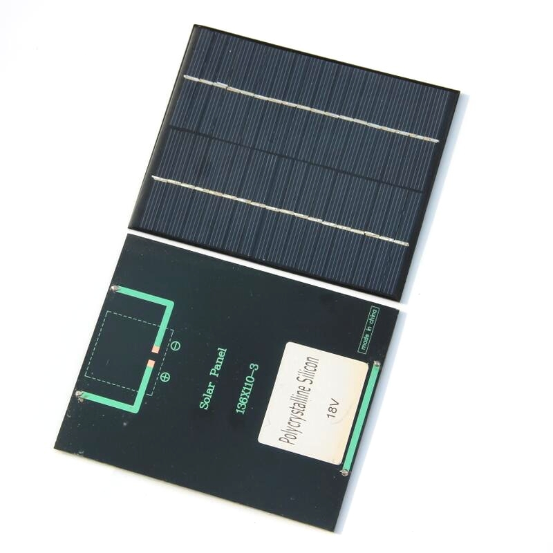 BUHESHUI 18V 2W Mini Solar Cell DIY Polycrystalline Solar Panel Solar Power Battery Charger 110*136*3MM Epoxy Wholesale 10pcs-in Solar Cells from Consumer Electronics    2