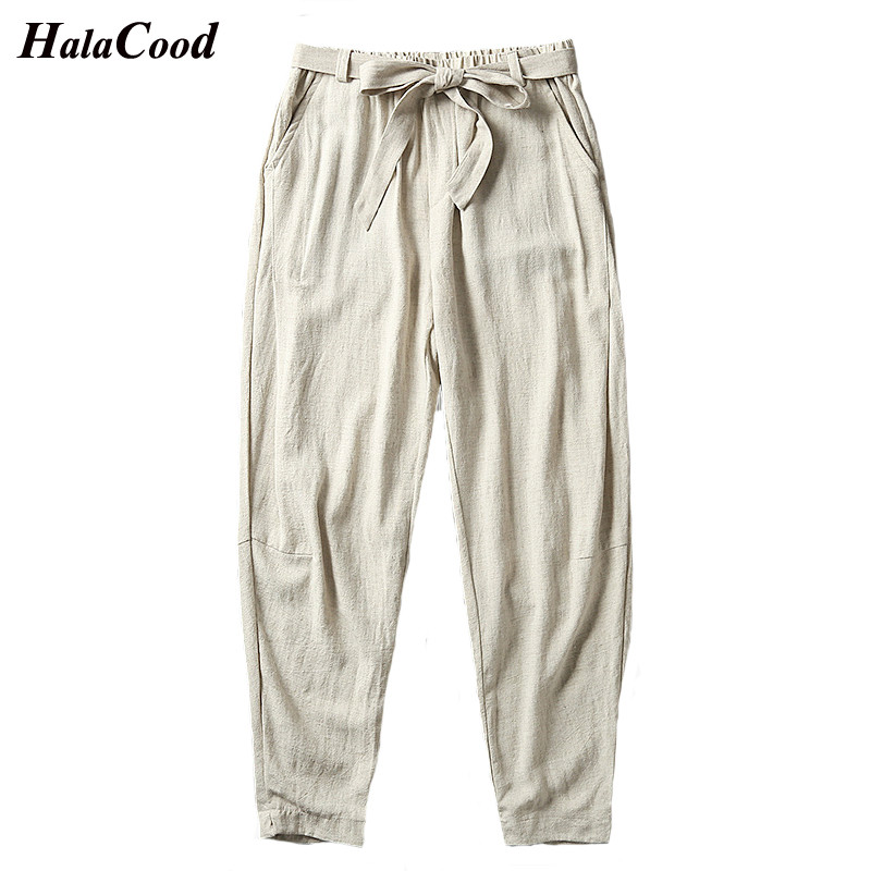 Fashion New Quality China Effort Mens Summer Trousers Cotton Linen Pants Sweat Pants Straight Loose Male Casual Large Pants Fat