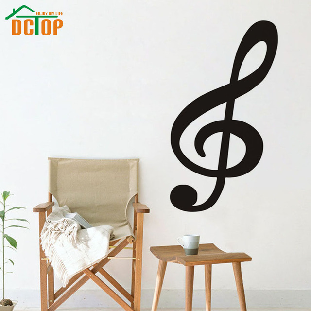 DCTOP Large Size Treble Clef Musical Note Wall Decals Vinyl ...