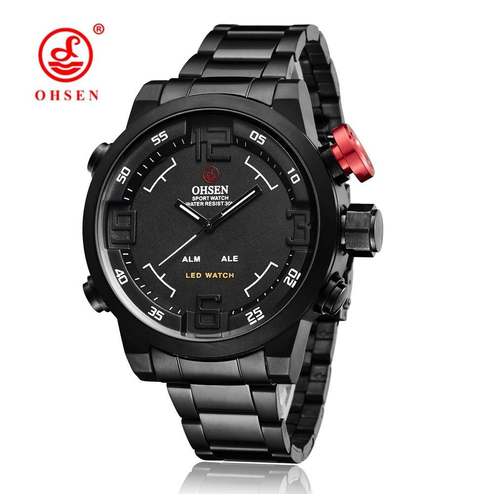 Originální značky OHSEN Quartz digitální hodinky Muži mužské - Pánské hodinky