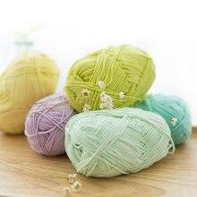 Top grade 2 balls/lot 100g Natural health soft milk cotton yarn high quality crochet yarn knitting yarn for knitting