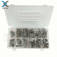 790pcs/set Flat & Spring 304Stainless Steel Assorted Washers Rust Resistant M4 M12|Washers| |  -