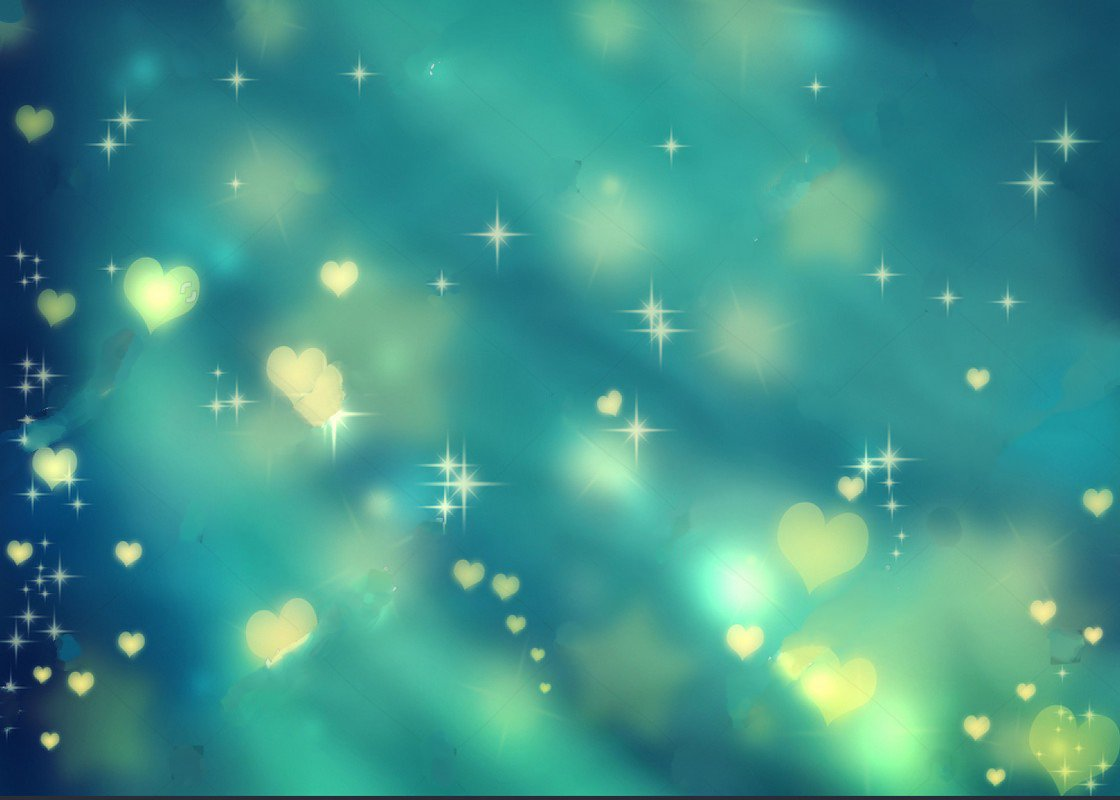 sparkly Golden hearts stars blue bokeh teal wedding ...