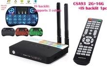 CSA93 Amlogic S912 OctaหลักARM Cortex-A53 2กรัม/16กรัม3กรัม/32กรัมAndroid 6.0กล่องทีวี1000เมตรLAN WiFi BT4.0 2.4กรัม/5.0กรัมH.265 4พันเล่น