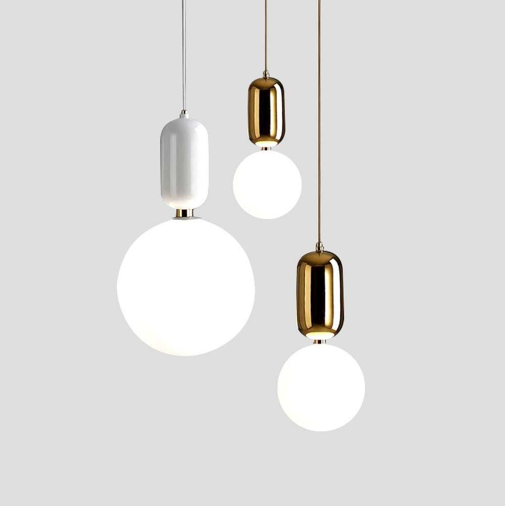 Modern Glass LED Pendant Lights Fixture Hanglamp Designer Loft Style Retro Kitchen Lamp Metal Industrial <font><b>Lighting</b></font> Bedroom Bar