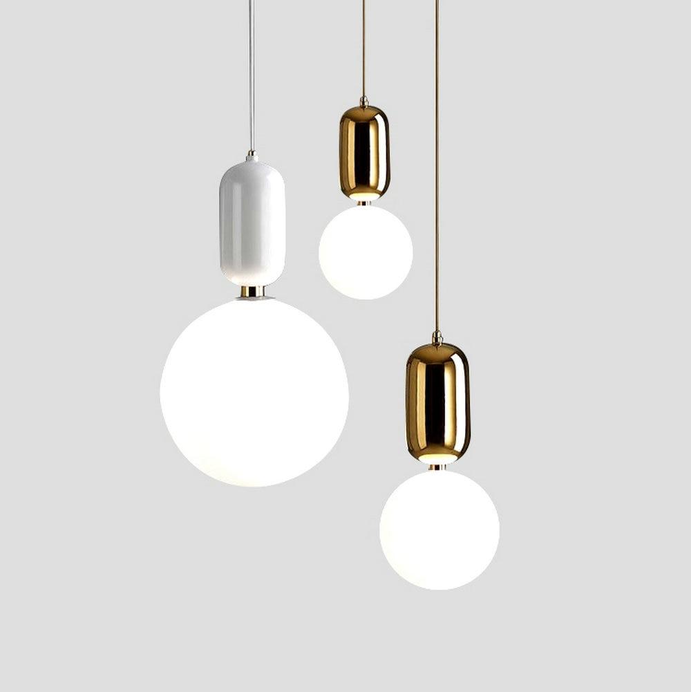 Modern Glass LED <font><b>Pendant</b></font> Lights Fixture Hanglamp Designer Loft Style Retro Kitchen Lamp Metal Industrial Lighting Bedroom Bar