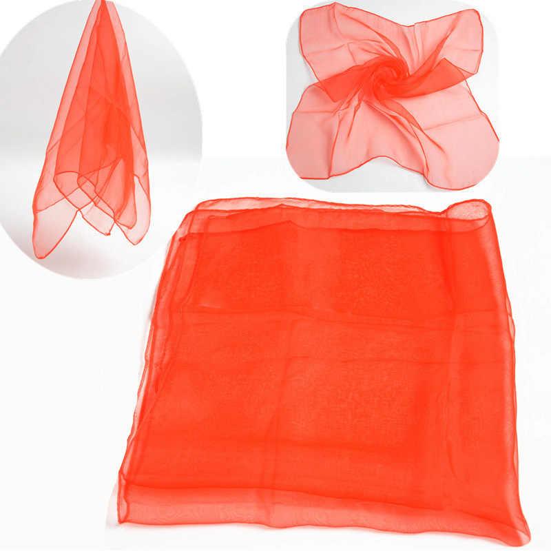 LNRRABC 60 centimetri * 60 centimetri di trasporto dei bambini chiffon sciarpe quadrate di performance di danza spettacolo sciarpa di colore della caramella delle donne dello scialle della sciarpa hijab commercio all'ingrosso