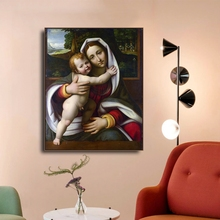 Laeacco Canvas Painting Calligraphy Raphael Wall Artwork Madonna and Child The Tempi Madonna Posters and Prints Home Living Room серьги marfa and madonna marfa and madonna mp002xw1ahot