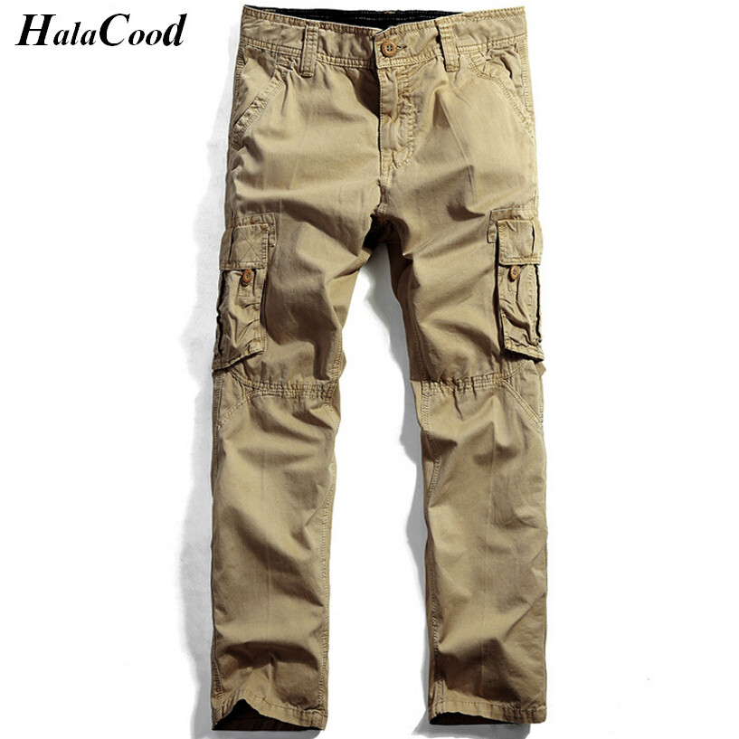 HALACOOD 2017 Best Quality Mens Pants Mr Cargo Casual Pants Combat Army Active Military Work Cotton Male Plus Size Trousers Fat ...