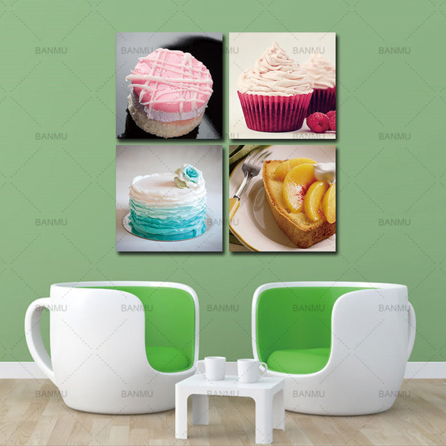 Us 5 71 52 Off Aliexpress Com Buy Canvs Wall Art Colorful Cake Food Canvas Prints Modern Wall Art Paintings Cakes Decor Giclee Artwork For Room