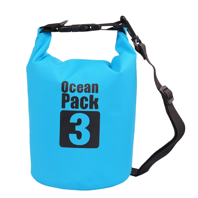 Waterproof Dry Bag Outdoor Beach PVC Buckled Floating Storage Sack Travel Boating Rafting Bags 2L 3L 5L