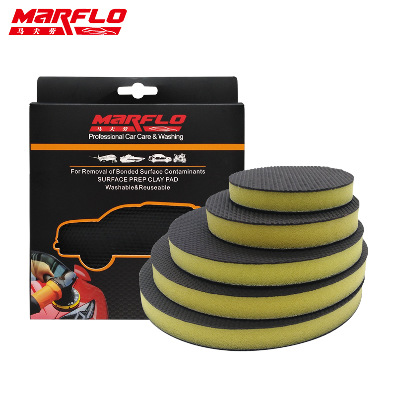 Car Washing Polish Wax Pad For Marflo Heavy Grad Magic Clay Sponge Pad Car font b