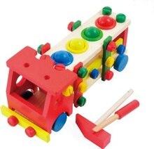 Montessori juguete niños de madera juguetes juguetes desmontables tornillo modelo de camión de aprendizaje preescolar educación entrenamiento Brinquedos Juguets