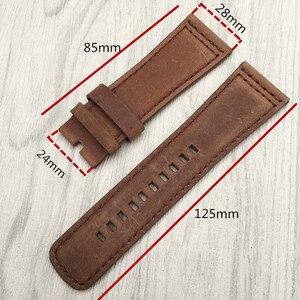 Image 2 - Nuovo di Alta qualità Cinturino In Pelle di Vitello Italiana con Spille Fibbia Nero Marrone SevenFriday M1