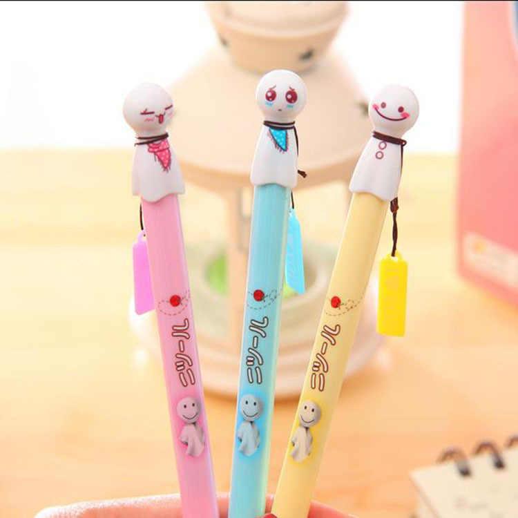1 pçs nova ensolarado boneca gel caneta para escrever japonês kawaii canetas bonito papelaria papelaria material de escritório escola canetas