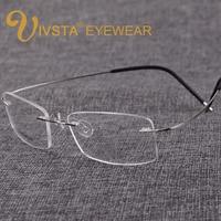 Titanium Eyeglasses Men Frames With Brand Logo Of S B Memory Rimless Glasses Women Myopia Spectacle