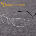 Titanium Eyeglasses Men Frames with Brand logo of S B-Memory Rimless Glasses Women Myopia Spectacle Optical IVSTA e1050