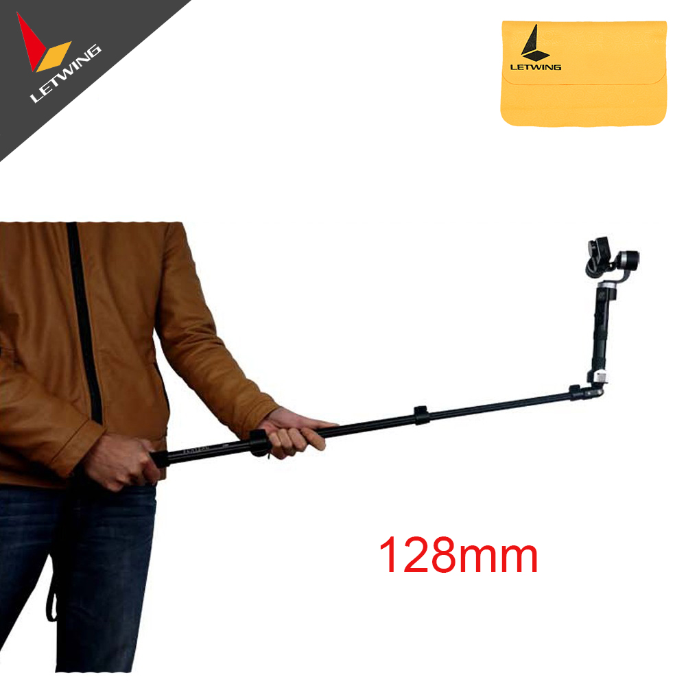 Zhiyun Carbon Fiber Retractable Extend Monopod Extended Pole Stick Selfie Handle for Z1 Evolution Smooth C Q Gimbal Stabilizer ashanks selfie stick bestablecam tripod monopod 1 4 screw aluminum alloy for dji osmo zhiyun crane z1 smooth c evolution smooth2