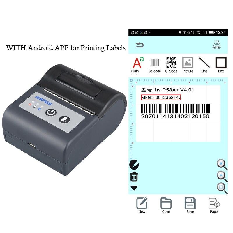 58mm thermal printer USB mini label printing machine with