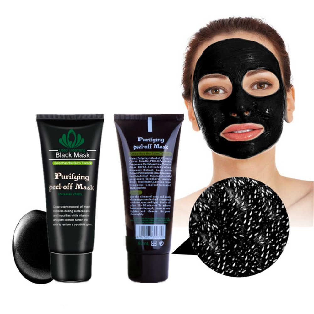 Removedor de manchas preto máscara nariz rosto removedor de cravo rosto pacote descascar fora cabeça preta acne tratamentos carvão máscara limpa profunda 1 pcs