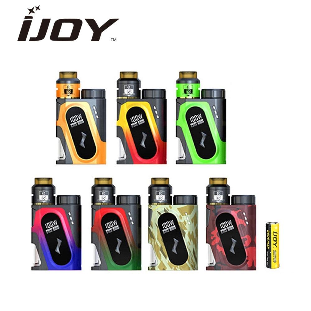 D'origine IJOY CAPO SRDA 100 w 20700 Squonker Kit 3000 mah Batterie w/Squonker MOD & Ijoy COMBO SRDA réservoir E Cig Boîte de Mod Vaporisateur Kit
