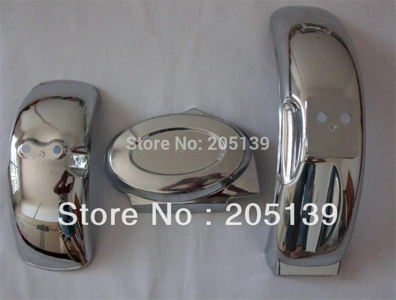 3pc NEW Z50 electroplating plastic front fender & rear fender & Battery cover  for moto dirt pit  MONKEY bike z 50 free shipping brand new 5 color monkey bike z50 plastic kit monkey bike parts