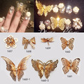 High Quality of the beautiful butterfly Nail Art Decorations Metal Manicure Decor Decals Nail Sticker Accessories Nail Tools