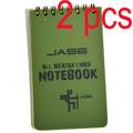 2 PCS Tactical Note Book All-Weather All Weather Notebook Waterproof Writing Paper in Rain