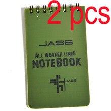 Тактическая записная книжка, 2 шт., Всепогодная записная книжка, водонепроницаемая записная книжка под дождем