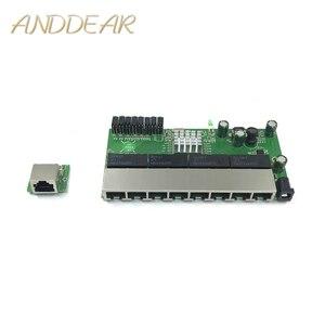Image 1 - 8 포트 기가비트 스위치 모듈은 led 라인 8 포트 10/100/1000 m 접촉 포트 미니 스위치 모듈 pcba 마더 보드에 널리 사용됩니다.