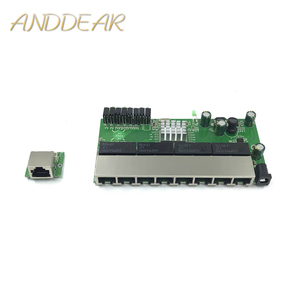 Image 1 - 8 port Gigabit switch module is widely used in LED line 8 port 10/100/1000 m contact port mini switch module PCBA Motherboard