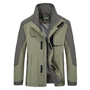 Image 4 - Combinaison veste + pantalon de Ski de plein air pour homme, tenue de Sport très chaude, coupe vent, imperméable à leau, pour faire du Camping, ensemble thermique épais