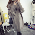 Long wool sweater women sweaters and pullovers Crew Neck sweater long-sleeved pullovers Retro Pullover Thick Knit Sweater