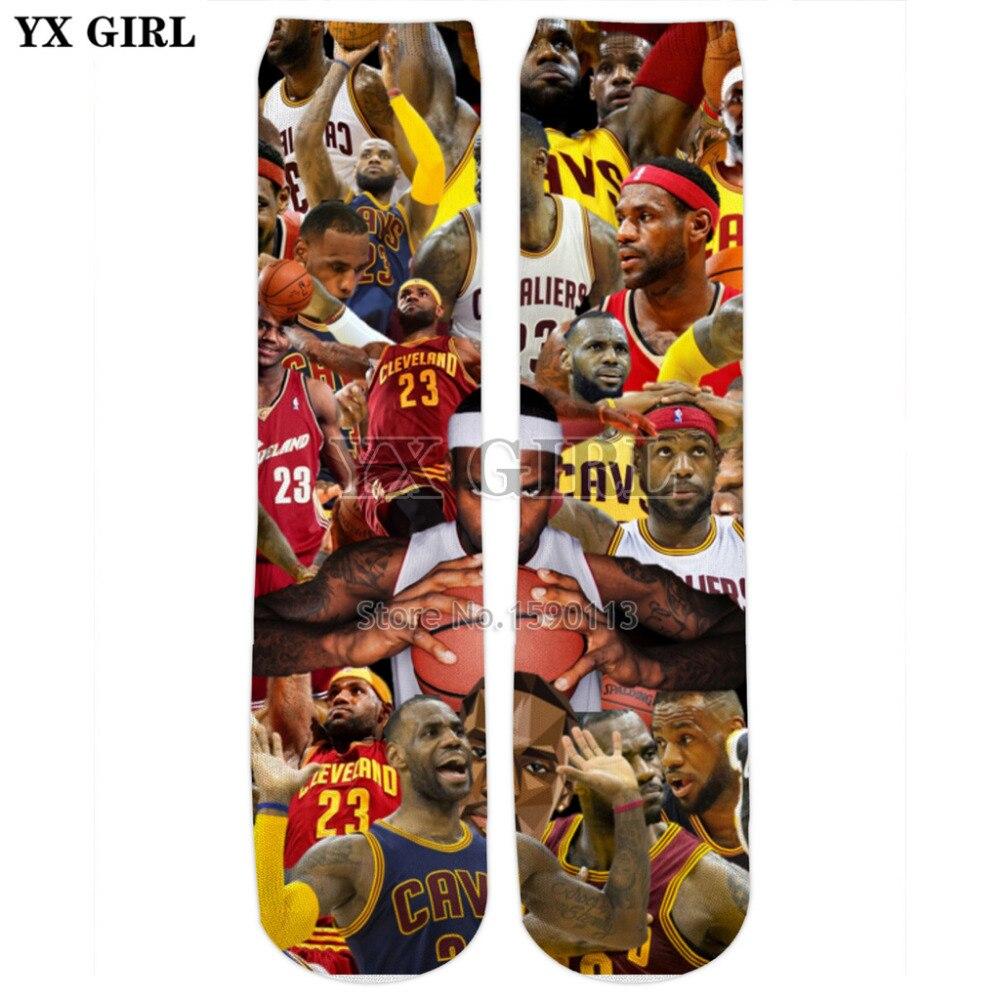 Yx Girl Hip Hop Style Reggae/diana/baseball Star/trump/basketball 3d Print Men/women Long Casual Hosiery Printed Fitness Socks Underwear & Sleepwears