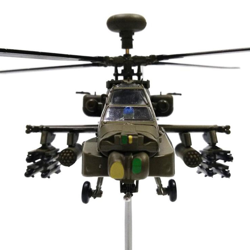 1/72 Scale Black Hawk AH-64 APACHE Helicopter Army Fighter Aircraft Airplane Models Adult Children Toys Military