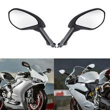 цена на Motorcycle L&R Side Black Mirrors Set W/ Turn Signals Light Kit For Ducati  959 S Panigale 2016 1299 Panigale S 2015-2016