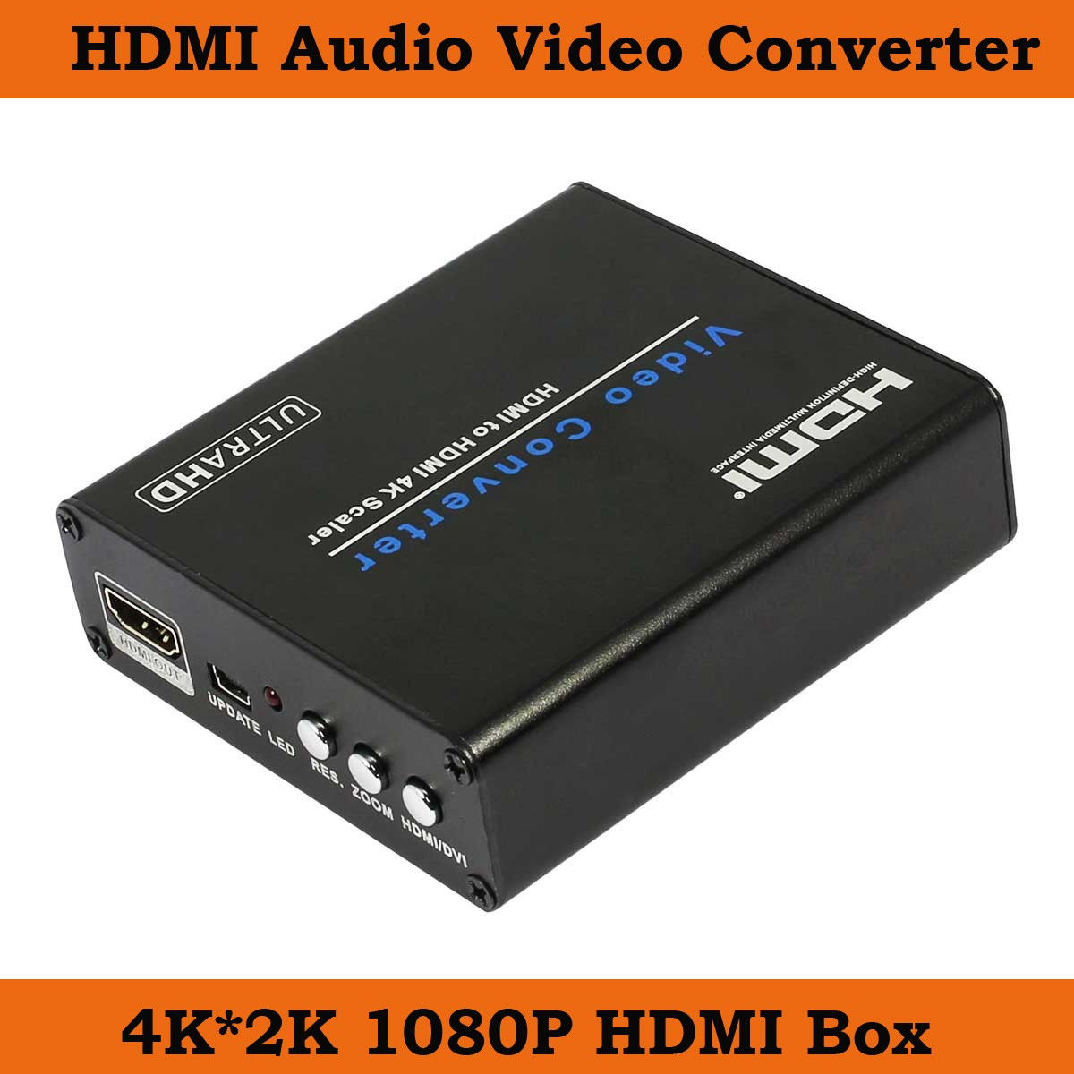 10pcs 1080P HDMI to HDMI Audio Video Scaler Adapter HDMI Converter with Audio Output Support 4K*2K ypbpr to hdmi converter 5rca component audio video scaler adapter