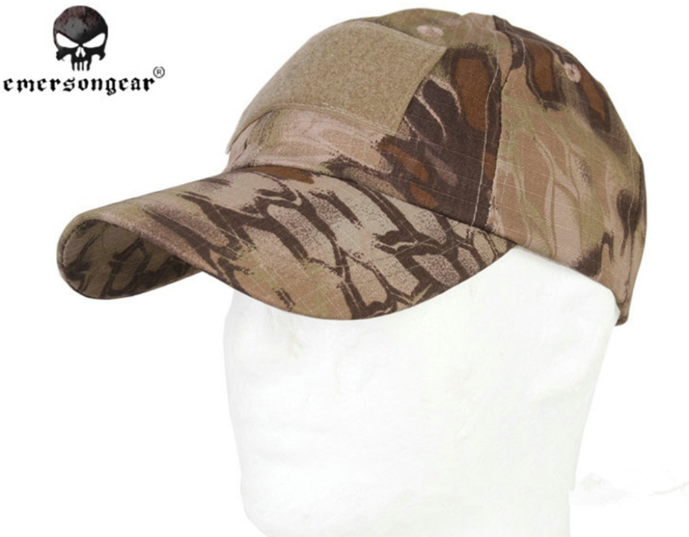 6e13b3dd3fa68 EMERSON Baseball Cap Military Tactical Army Cap Anti-scrape Grid Fabric  Kryptek Highlander HLD EM8715 Hunting Caps