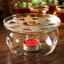 Hitzebeständige Glas Runde Form Teekanne Kaffeewasser Teekanne Wärmer Basis Teekanne Heizung Glas Runde Wärmer, glas Teekanne Wärmer