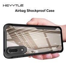 Heyytle עמיד הלם שריון מקרה עבור Huawei P20 P30 פרו Mate 20 לייט נובה 4 3i שקוף כיסוי לכבוד 10 8X מקס רך TPU Coque