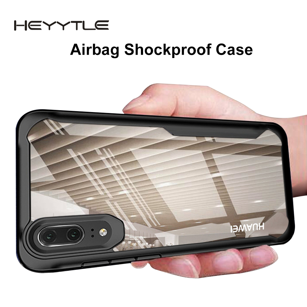 Heyytle Shockproof Armor Case For Huawei P20 P30 Pro Mate 20 Lite Nova 4 3i Transparent Cover For Honor 10 8X Max Soft TPU Coque-in Fitted Cases from Cellphones & Telecommunications