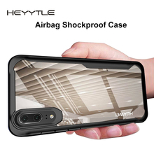 Heyytle Shockproof Armor Case For Huawei P20 P30 Pro Mate 20 Lite Nova 4 3i Transparent Cover For Honor 10 8X Max Soft TPU Coque