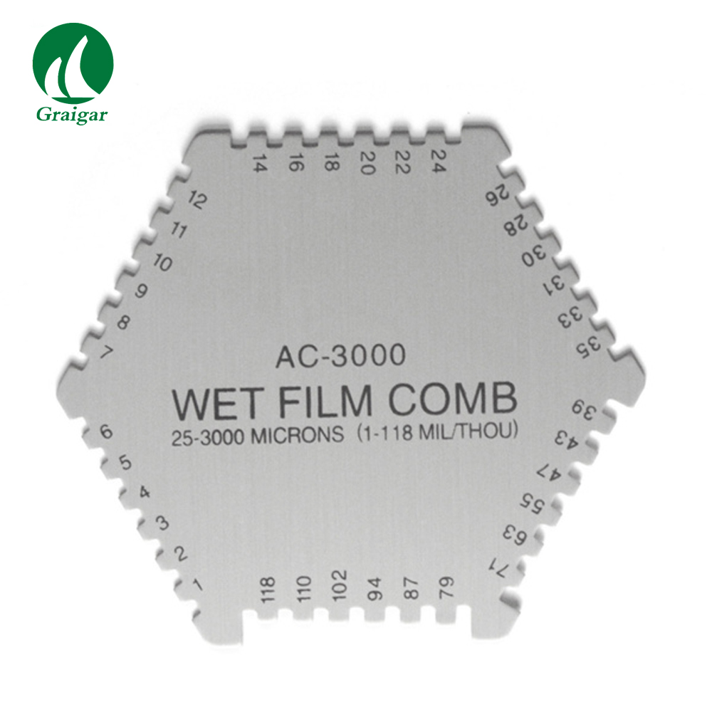 Hexagonal Wet Film Comb For Coating AC-3000 Wet Film Thickness Gauge wet film comb cm 8000 used for checking the thickness coating of wet paint enamel lacquer adhensive