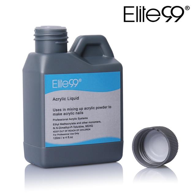 Elite99 Acryl Flüssigkeit Monomer Falsche Acryl Nail art 120 ml Werkzeug Maniküre Für Acryl Pulver Staub Nägel Tipps Pulver Nagel werkzeuge
