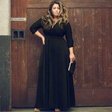b7737f792b2 L ukraine de mode robe longue piste maxi robe élégante 2018 femmes de haute  qualité robe Pour Graisse Grande Taille robe femme f.