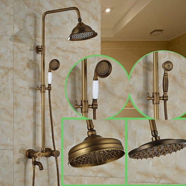 European Style Bathroom Shower Mixer Taps Adjustable Height 8 ...