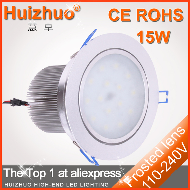 [Huizhuo Lighting]Free shipping Cheap Epistar LED downlighting 15W LED Down Lamp,led ceilingt lighting