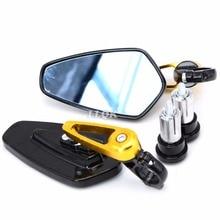 Новое прибытие наиболее мотоцикл 7/8 «» 22 мм ручка бар Заднего Вида Боковые Зеркала Мотоцикл Бар Конец Зеркало Для APRILIA RS50 RS 50 Rs 50